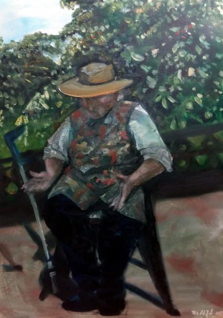 """Iris Hilpert """"Sommererinnerung"""" Öl, 70 x 50, 2008"""