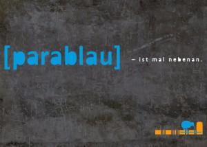 parablau ist mal nebenan